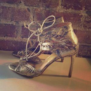 Dolce Vita gold snake heels 7.5